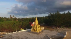 February 12. 2016. Buddhist pagoda. Temple complex. Aerial view of traditional Stock Footage