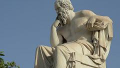 Statue Of The Socrates Stock Footage
