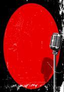 Spotlight On A Microphone Stock Illustration