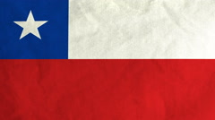 Chilean flag waving in the wind (full frame footage) Stock Footage