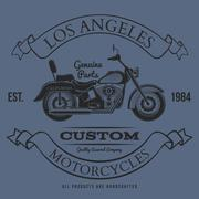 Motorcycle vintage graphics, t-shirt typography, Vintage Stock Illustration