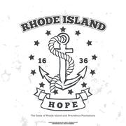 Anchor with rope and hope. Design elements. T-shirt print - stock illustration