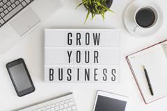 Grow your business Stock Photos