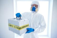 Man with dangerous case - stock photo