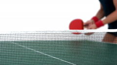 Ping pong player hitting the ball Stock Footage