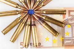 Surrounded Euro Flag Stock Photos
