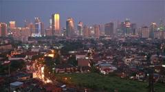 Sunset over Jakarta Stock Footage