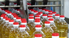 Manufacturing of sunflower oil - stock footage