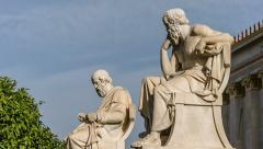 Greek Philosophers Plato and Socrates Stock Footage
