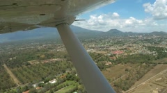 POV plane passing by Mount Meru Stock Footage