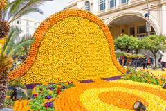 Art made of lemons and oranges in the famous Lemon Festival (Fete du Citron) in  Stock Photos
