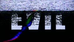 Evil Videotape Distorted Noise Stock Footage