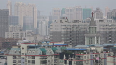 Christianity in China, religion, contrast, city skyline, Wuhan, control - stock footage