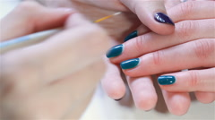 Patterned nails panther Stock Footage