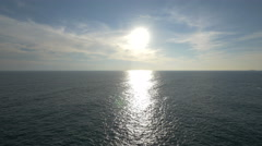 Amazing view of Adriatic Sea and the sun shining in Dubrovnik - stock footage