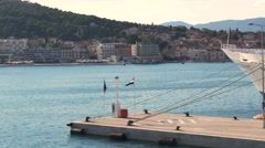 Departure from Split by boat Stock Footage