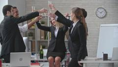 Party at the Office Stock Footage