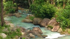 Beautiful river in the forest. Thailand Stock Footage