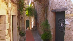 France Cote d'Azur old town Eze - stock footage