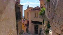 France Cote d'Azur old town Eze Stock Footage