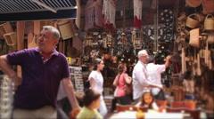 Corner in Egyptian Bazaar, Istanbul - Unfocused people. Stock Footage