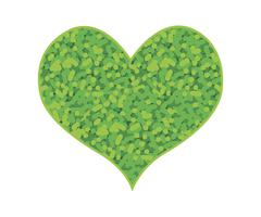 Abstract Green Heart Shape on A White Background - stock illustration