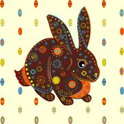 Easter Bunny eggs background vector Stock Illustration
