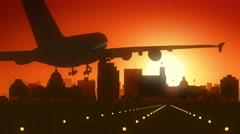 Jackson Mississippi USA America Skyline Sunrise Landing - stock footage