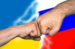 Russian Ukrainian conflict - stock photo