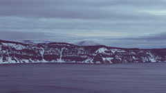 Crater Lake Winter storm Clouds in the Cascade Mountains Time Lapse - stock footage