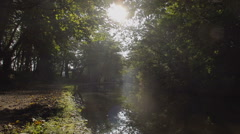 Autumn Morning On The Famous Llangollen Canal Stock Footage