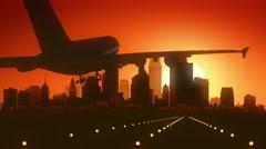 Minneapolis Minnesota USA America Skyline Sunrise Landing - stock footage