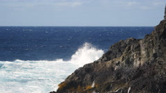 High surf on the coast of the Canary Islands Stock Footage