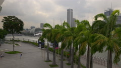 Marina bay sands mall esplanade theaters panorama singapore Stock Footage