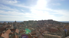 Amazing view of the cityscape seen from the City Walls in Dubrovnik Stock Footage