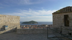 Amazing cityscape seen from the City Walls in Dubrovnik Stock Footage