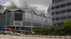 Nicoll hwy suntec city mall traffic crossroad panorama singapore Stock Footage