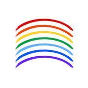 Art rainbow color brush strokes vector - stock illustration