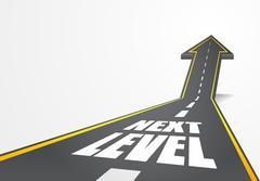 road to Next Level - stock illustration