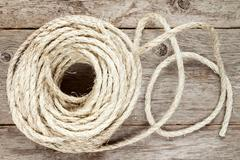 Roll of sisal rope Stock Photos