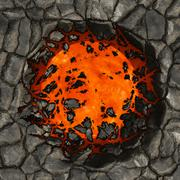 Burning ground - stock illustration
