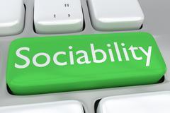 Sociability concept Stock Illustration