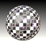 Chessboard metal ball Stock Illustration
