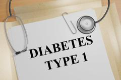 Diabetes Type 1 concept - stock illustration