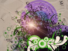 Funky background - stock illustration