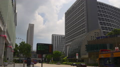 Marina square suntec city mall traffic street panorama singapore Stock Footage