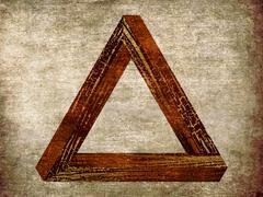 Grunge fantastic triangle Stock Illustration