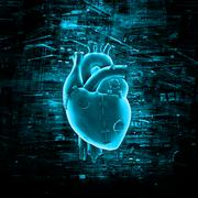 Virtual reality heart Stock Illustration