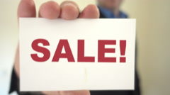 SALE call to action Stock Footage