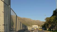 Tilt view of the pillar of Franjo Tudjman Bridge in Dubrovnik Stock Footage